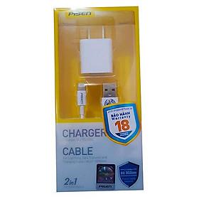 Bộ Adapter Sạc Pisen 1A Và Cáp Sạc Lightning Cho iPhone 1m