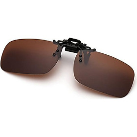 Polarized Glasses Day Night Vision Driving Sunglasses Clip-on Flip-up Lens