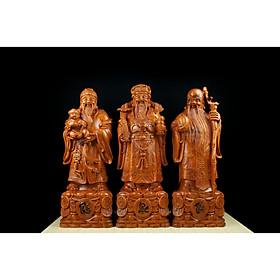 Tượng gỗ mỹ nghệ- tượng tam đa( Phúc- Lộc- Thọ)- gỗ hương đá Nam Phi nguyên khối
