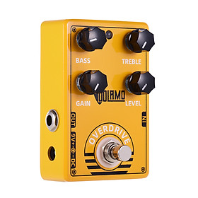 Dolamo D-8 Overdrive Guitar Effect Pedal with Bass Treble Gain Level Controls and True Bypass Design for Electric Guitar