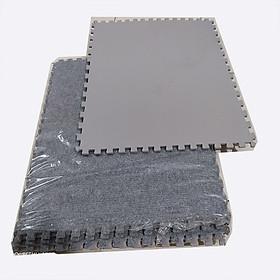 Combo 4 tấm xốp ghép, mặt thảm nỉ dày 0,6cm/tấm, nhiều kích thước, màu xám sáng