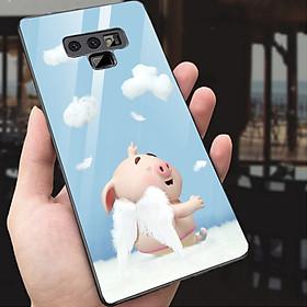 Ốp kính cường lực dành cho điện thoại Samsung Galaxy Note 9 - heo hồng - hh201