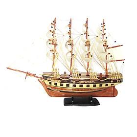 Mô hình thuyền gỗ trang trí France II - thân 40cm