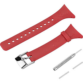Outdoor Waterproof Rubber Watch Band Men's Watch-strap Steel Buckle with Screwdriver for SUUNTO M Serise M1M2M4M5