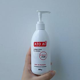 Dầu tắm gội toàn thân chiết xuất thiên nhiên dành cho bé ATO AI 300g