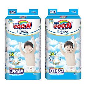 Combo 2 Gói Tã Dán Goo.n Premium Gói Cực Đại XL46 (46 Miếng)