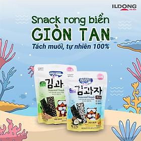 Combo hai vị snack rong biển ăn dặm ILDONG Hàn Quốc cho bé (75g)