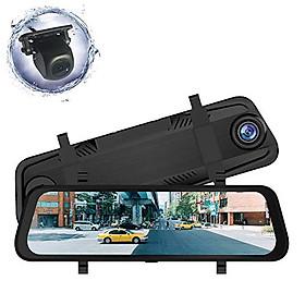 Camera Hành Trình Ô Tô 9,66 inch Cảm Ứng Kiêm Camera Lùi