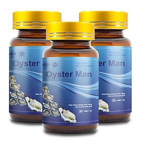 Combo 3 Tinh Chất Hàu Biển OYSTER MAN Tăng Cường Sinh Lý, Cải Thiện Xuất Tinh Sớm (3 Hộp x 30 Viên)