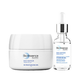Combo dưỡng ẩm Bio-Essence Bio-Water (Tinh chất Vitamin B5 30ml+ Kem Moist-in Gel 50g)