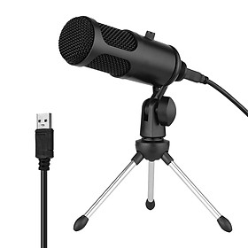 USB Condenser Microphone Set Profession Microphone System with Foldable Mic Tripod USB Power Cord for Recording Live