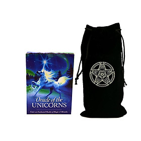 Combo Bộ Bài Bói Tarot Oracle of the Unicorns Cards Cao Cấp và Túi Nhung Đựng Tarot