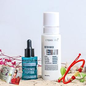 Combo Detox Blanc Thải độc Giảm mụn tận gốc Mặt nạ Detox mask và Serum mụn Lộc Đề Peel Acnes - Hỗ trợ giảm mụn bọc, mụn đầu đen(mẫu mới) - Tặng vòng Phong Thủy và mẫu test Nước hoa Charme Queen chính hãng