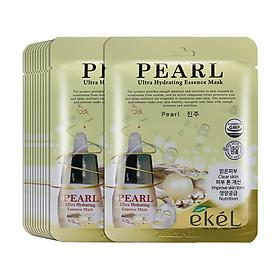 Gói 10 miếng mặt nạ dưỡng da thương hiệu Ekel chiết xuất từ Ngọc Trai ( EKEL Ultra Hydrating Essence Mask Pearl)