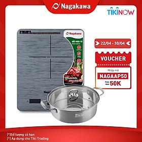 Bếp Từ Đơn Nagakawa NAG0710 (2000W) - Kèm Nồi Lẩu - Hàng Chính Hãng