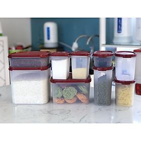 Bộ hộp trữ khô Tupperware 9 hộp