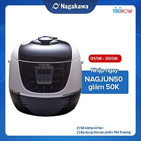 Nồi Áp Suất Điện Tử Nagakawa NAG0206 (6.0 Lít) - Hàng Chính Hãng