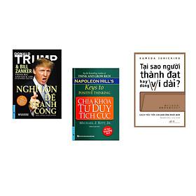 Combo 3 cuốn sách: Nghĩ Lớn Để Thành Công + Chìa Khóa Tư Duy Tích Cực + Tại sao người thành đạt hay dùng ví dài
