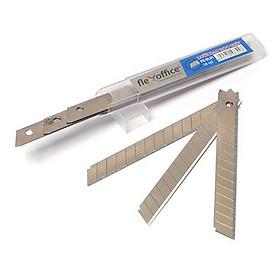 Bộ 3 Lưỡi dao rọc giấy FO-BL01 9mm (10 lưỡi dao/hộp nhỏ)