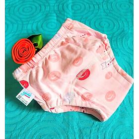 Combo 5 Quần bỉm vải cotton 6 lớp siêu thấm nhẹ thoáng hiệu goodmama cho Bé Gái-6