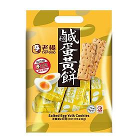 Bánh quy trứng muối T.K Food Đài Loan 230gx3 gói