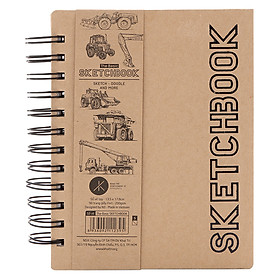 Sổ Vẽ The Basic Sketchbook (S) 90 Trang Simply Daily - Mẫu Ngẫu Nhiên (13.5 x 17.8 cm)