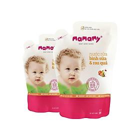 Combo 2 Túi bổ sung Nước rửa bình sữa & rau quả Mamamy 600 ml
