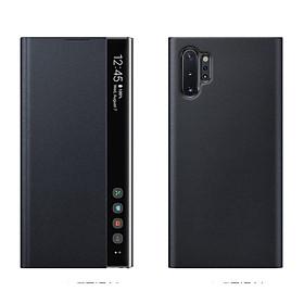 Bao da Clear View Cover samsung Galaxy Note 10 Plus - Màu Đen