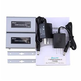 Bộ chuyển đổi HDMI qua lan 50/60 mét Dtech DT-7009C - Hàng Chính Hãng