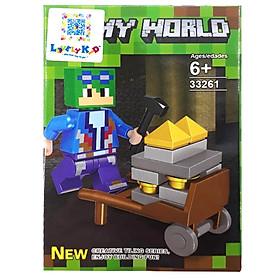 Bộ Xếp Hình Lovely Kid - My World - Khai Thác Mỏ - 33261