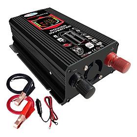 (6000W Car Power Inverter 12V to 220V 50HZ LED Display Dual USB Port Black
