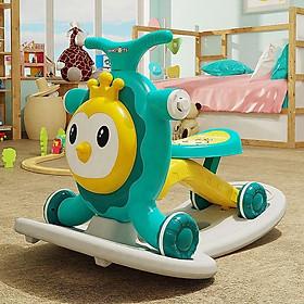 Xe tập đi kiêm ngựa bập bênh xe trượt scooter xe chòi chân 4in1 cho bé