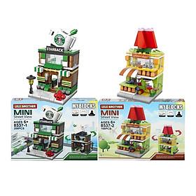 Combo 2 hộp lắp ráp phố nhỏ xinh Mini Street View Lele Brother 8537 (8537-12)