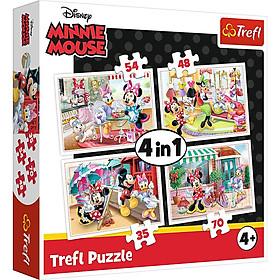Tranh ghép hình TREFL 34315 - 4 trong 1 Chủ đề Disney Minnie (35/48/54/70 mảnh) (jigsaw puzzle )