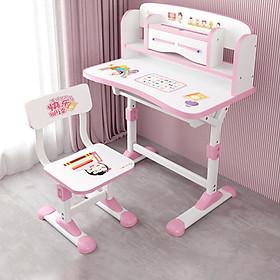 Bộ bàn ghế chống gù chống cận, bàn học thông minh cho học sinh điều chỉnh độ cao 48 x 75cm - HÀNG CHÍNH HÃNG