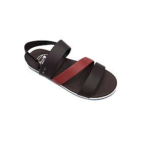 Giày Sandal 3 Quai Ngang Nam Everest - Eve01 D53 (Nâu Phối Đỏ)