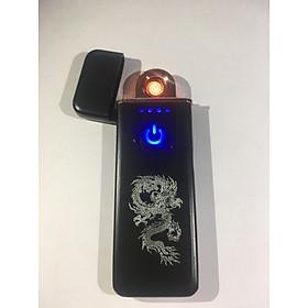 Bật lửa hột quẹt điện cảm ứng dập nổi vân rồng BLD001