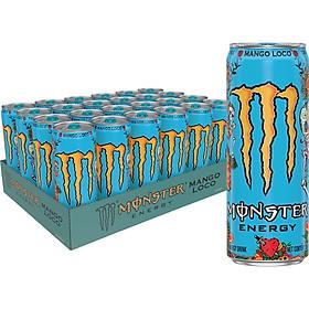 Lốc 24 Lon Nước Tăng Lực Monster Loco Vị Xoài (355ml x 24)