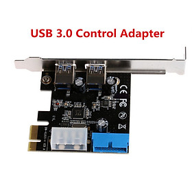 PCI Express USB 3.0 2 Ports Front Panel with 4-Pin & 20 Pin Control Card Adapter For Digital Camera Printer External CD/DVD