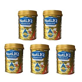 Bộ 5 Lon Sữa bột NUTI IQ Diamond số 3 cho trẻ từ 1-2 tuổi - 900g