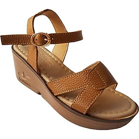 Giày Sandal Nữ Đế Xuồng BIGGBEN Da Bò Thật SDX13