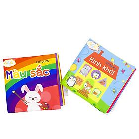 Combo 2 cuốn sách Lalala baby chủ đề Hình khối và Màu sắc made in Vietnam