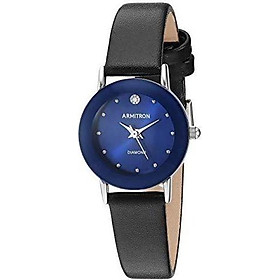 Armitron Women's 75/2447 Diamond-Accented Leather Strap Watch