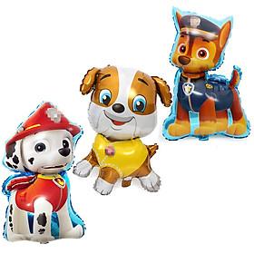 Bộ bong bóng hoạt hình chó Paw Patrol (Chó Rubble, Marshall, Chase)