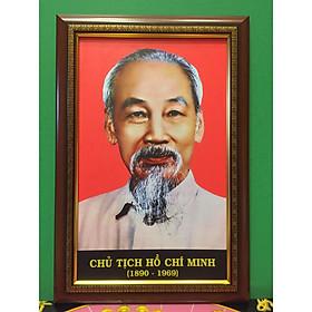 Tranh ảnh chân dung - Bác Hồ - Bác Giáp ( 38x56cm)