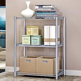 56*35*80CM 3 Tier Metal Shelf Microwave Oven Rack Kitchen Counter Organizer Holder Bookcase