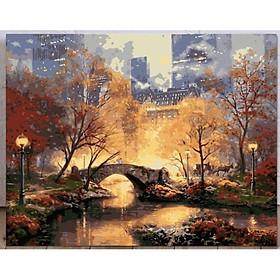 Tranh sơn dầu số hóa các mẫu Phong Cảnh đẹp nhất size 40x50cm đã căng khung và đầy đủ phụ kiện loại khung dày 2.5cm