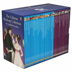 "Usborne Bộ Tím The Usborne Reading Collection for Confident Readers - x40 book boxed set giá chỉ còn <strong class=""price"">1.949.000đ</strong>"