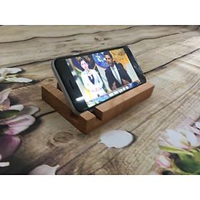 Kệ điện thoại đơn giản hình chữ nhật 2 khe vuông góc bằng gỗ óc chó, gỗ tần bì