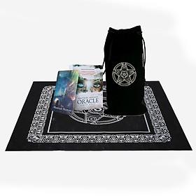 Combo Bộ Bài Bói Mystical Shaman Oracle Cards Tarot Cao Cấp Bản Đẹp và Túi Nhung Đựng Tarot và Khăn Trải Bàn Tarot